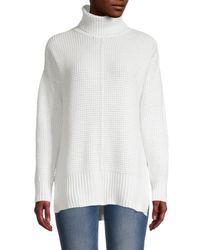 Sweet Romeo Women's Seed Stitch Turtleneck Sweater - Black - Size Xs