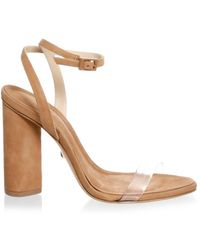 5835d88cc92d Schutz Geisy Suede Ankle-strap Sandals in Red - Lyst