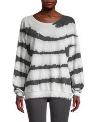 Wildfox Printed Cotton-blend Sweatshirt - Grey