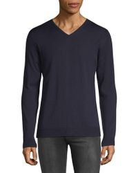 Strellson - V-neck Wool Sweater - Lyst