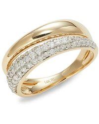 Saks Fifth Avenue Women's 14k Yellow Gold & Diamond Ring - Size 7 - Metallic