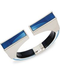 Alexis Bittar Rhodium-plated & Lucite Cuff Bracelet - Blue