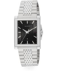 Gucci - G - Timeless Collection Stainless Steel Rectangle Watch - Lyst