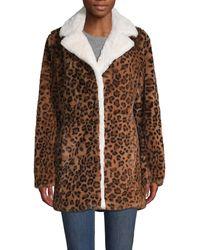 10 Crosby Derek Lam Leopard-print Faux-fur Jacket - Brown