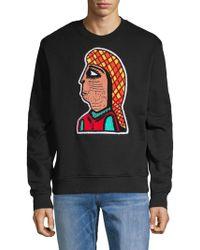 Haculla Graphic Cotton Sweater - Black