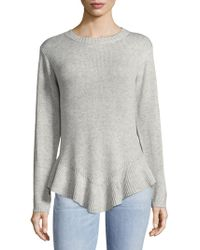 Cliche - Ruffle Long Sleeve Sweater - Lyst