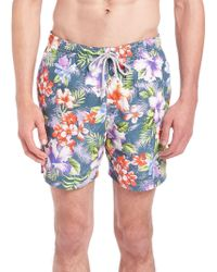 Saks Fifth Avenue - Floral Printed Swim Shorts - Lyst