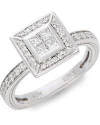 Effy 14k White Gold & Diamond Ring - Multicolour