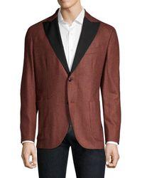 Boglioli Flannel Wool Dinner Jacket - Red