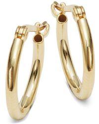 Saks Fifth Avenue | 14k Yellow Gold Hoop Earrings | Lyst