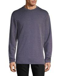 Giorgio Armani - Textured Crewneck Sweatshirt - Lyst