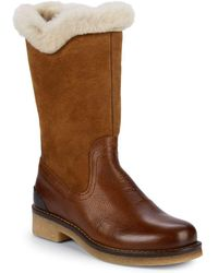Pajar Karen Waterproof Shearling Lined Boots - Brown