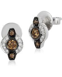Le Vian - Chocolatier Deco Estate Diamond & 14k White Gold Earrings - Lyst