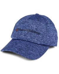 Champion Men's Logo Heathered Cap - Navy - Blue