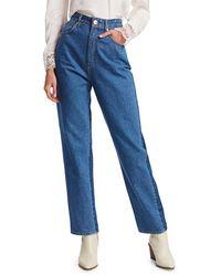 Sandro Women's Dual High-rise Jeans - Blue - Size 40 (8-10)
