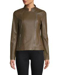 Lafayette 148 New York - Warren Leather Jacket - Lyst