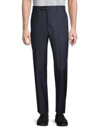 Zanella Men's Wool Dress Pants - Navy - Size 34 - Blue
