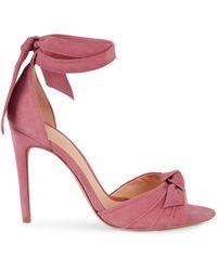 Alexandre Birman Ankle-tie Suede Sandals - Pink