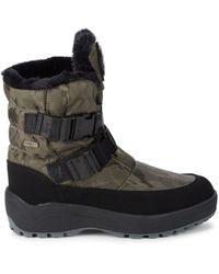Pajar Women's Karia Camo-print Faux Fur-trim Boots - Khaki Camo - Size 39 (9) - Black