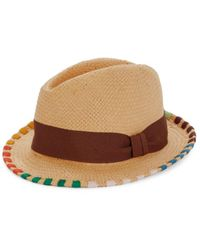 Paul Smith Men's Thread Woven Fedora - Tan - Size M - Brown
