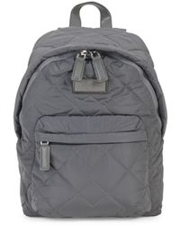 Marc Jacobs Quilted Nylon Backpack - Cherry Red - Gray