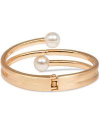 Saachi Endless Goldtone & Faux Pearl Hinged Bracelet - Multicolour