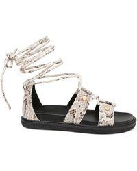 BCBGeneration Millie Faux Leather Sandals - Multicolour