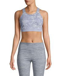 Free People Printed Sports Bra - Black