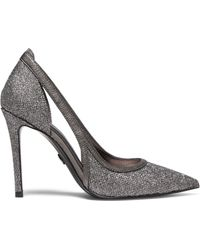 MICHAEL Michael Kors Nora Glittered Point-toe Court Shoes - Grey