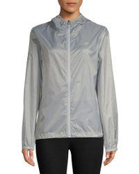 New Balance Classic Hooded Full Zip Jacket - Metallic
