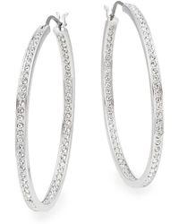 Swarovski - Ready Crystal Oval Hoop Earrings - Lyst