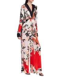 byTiMo Floral Drape Jumpsuit - Red