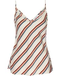 FRAME Women's Classic Striped Silk Camisole - Clay Multi - Size Xs - Multicolour