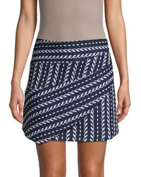 Haute Rogue Chevron-knit Mini Skirt - Blue