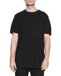 NANA JUDY Men's Drift Cotton Jersey Tee - Black - Size L
