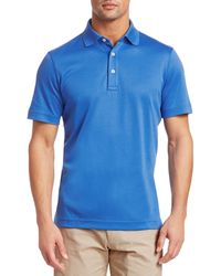 Saks Fifth Avenue Collection Performance Polo - Blue