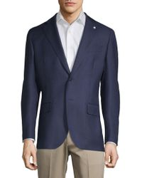 Lubiam - Mini Check Wool Sportcoat - Lyst