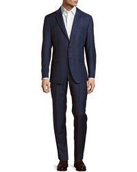 Saks Fifth Avenue Modern-fit Wool Suit - Blue