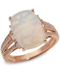 Effy 14k Rose Gold, Opal & Diamond Ring - Metallic