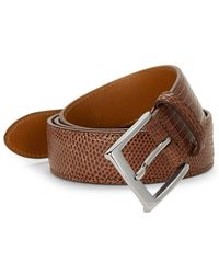 Saks Fifth Avenue Lizard Leather Belt - Brown