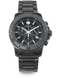 Movado - Black Pvd-finished Stainless Steel Chronograph Watch - Lyst