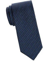 Eton of Sweden Paisley Silk Tie - Blue