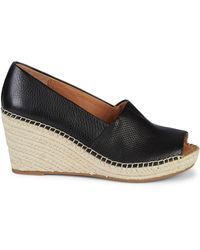 Gentle Souls Celisse Peep-toe Leather Court Shoes - Black