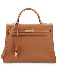 Hermès - Vintage Kelly Leather Bag - Lyst