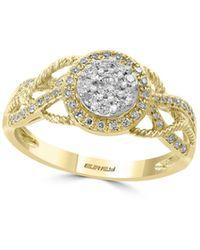 Effy 14k White, Yellow Gold & Diamond Solitaire Ring - Multicolour