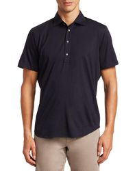Saks Fifth Avenue Collection Solid Active Polo - Blue