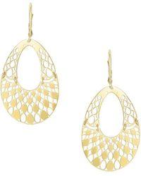 Saks Fifth Avenue - 14k Yellow Gold Cut-out Drop Earrings - Lyst