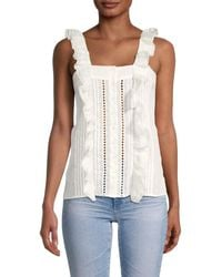 See By Chloé Women's Button-front Top - White - Size 36 (6)