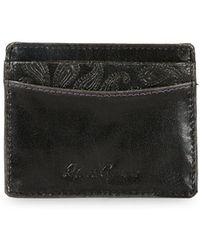 Robert Graham Greco Leather Card Case - Black