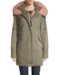 10 Crosby Derek Lam Fox Fur-trimmed Parka & Faux Fur Vest - Multicolor